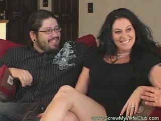 Slutty getrouwd vrouw rides lul pov