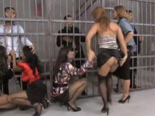 Mooi groep orgie in gevangenis