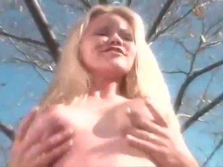 Blonde bitch screwed hard outdoors