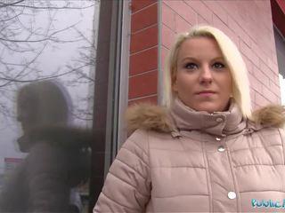 Öffentlich agent heiß blond lucy shine takes bargeld für sex