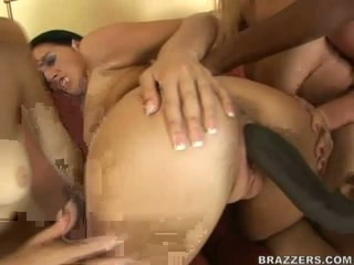 Sexy bitches share massive black boner