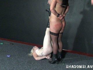 Two learner slavegirls explícito agulha tortura e breast amarradas de andrea whilst loira anjo é pierced