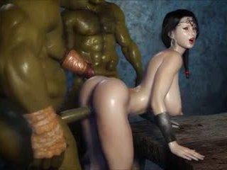 2 geants baisent une jolie fille, falas porno 3c