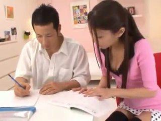 Astounding китаянка nymph receives cumload після величезний having секс секс.