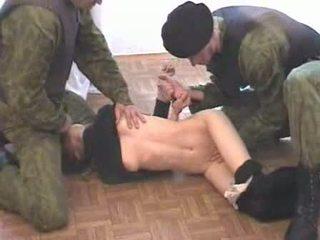 Two armee men brutalize terrorist video