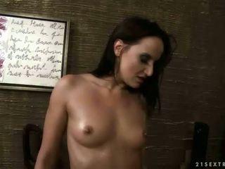 Mistress and busty sex slave