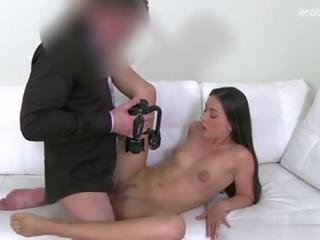 brünette, realität, oral sex