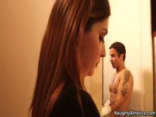 skutočný bruneta, menovitý veľké prsia ideálny, skutočný výstrek skontrolovať