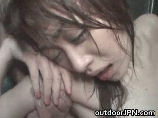 Akari hoshino japanisch draußen schwer