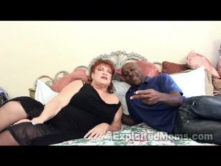 Grandma Receives Bawdy Cleft Pounded By Big Black Cock