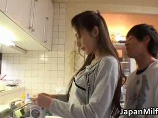 japonês, beleza, mãe