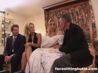 Bride-to-be got een gemeen facial, gratis facesitting butts porno video-