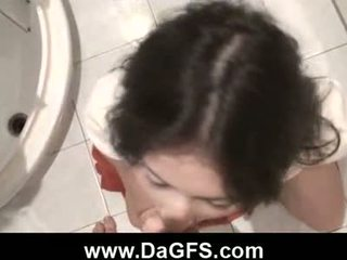Amateur couple fucking in the bathroom