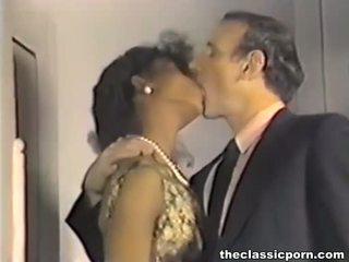 Βρόμικο ρετρό ταινία με Καυτά σεξ fest