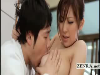 Grande titty giapponese sultress harumi asano has meloni suckled