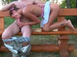 morena, bebê, ao ar livre
