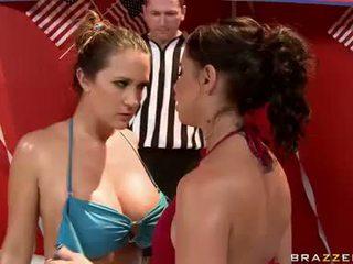 lesbian, lesbian fight, pornstars