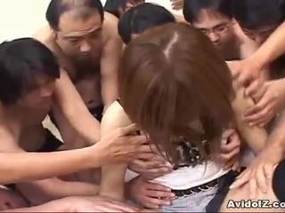 Japonesa nena touched por muchos men uncensored
