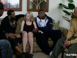 Katie kox inter-racial gangbang