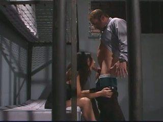 Porner premium: lustful policists jāšanās brunete klients, alaura eden