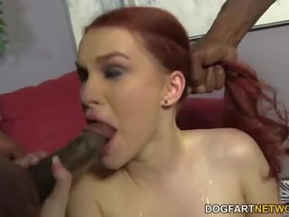 Andrea sky double penetrated līdz liels melnas cocks