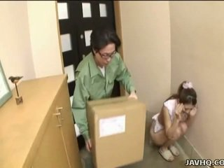 Sweet Japanese teen forced into blowjob