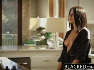 Blacked si rambut coklat adriana chechik takes trio daripada bbcs