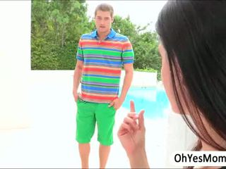 MILF India Summer seduces pretty teen Lola Fox in lesbo scene