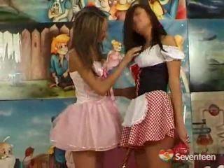 Lesbiete teenagers having funtime