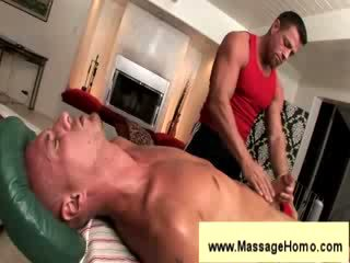 Troy michaels gives blowjob đến masseuse