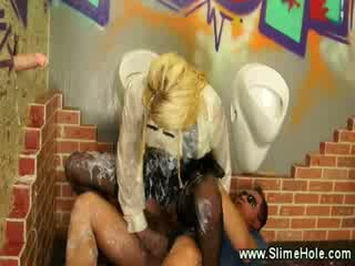 Gloryhole loving Escort gets it Rough