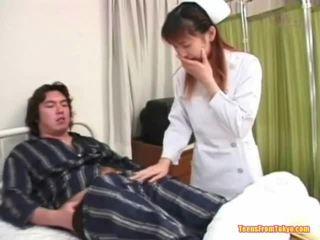 Oriental Nurse Playing Off