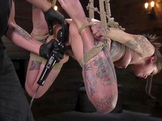 Tiny Tattoo-ed Pain Whore Krysta Kaos Tormented in Rope