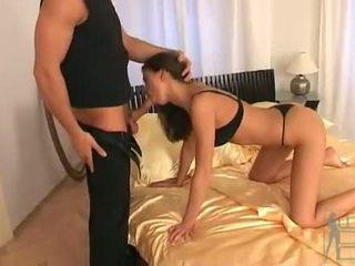 Clara morgane gets grūti bang onto the divan