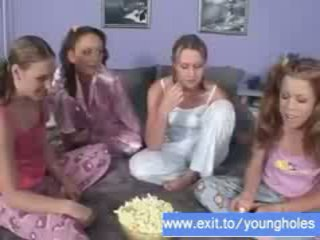 Lesbian Party 4 18 years teens Video
