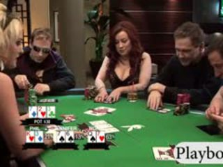 Busty Babes Enjoyed Playing Poker With...