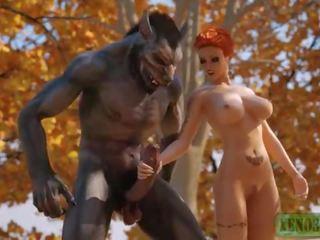Maz sarkans jāšana hood attacked & fucked līdz 3d monstrs werewolf uz mystique forest. 3dx fairy aste parodija