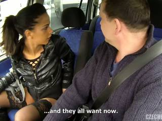 Mature man and skinny young girlfriend in the car.