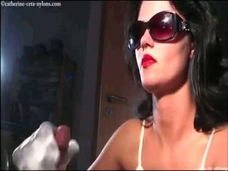 Catherine-ceta-jerks-a-cock-with-white-satin-glove