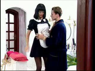 Anita blondinė yra a seksualu tarnaitė