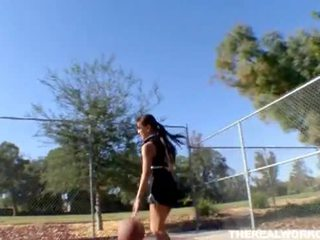 Busty asian gets fucked by her basketb...