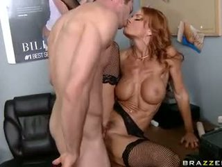 Scorching wild Janet Mason gets her pussy poked deep by a cock and loves it