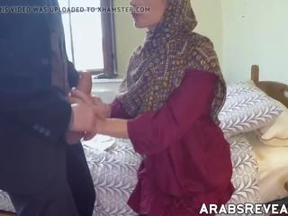 bērns, arābu, liels gailis