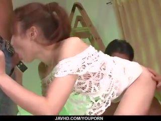 Yura kasumi loves having two cocks in haar holes