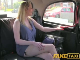 FakeTaxi Dirty british cougar is happy to fuck the London Taxi driver