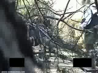 Voyeur cheating outside fucking