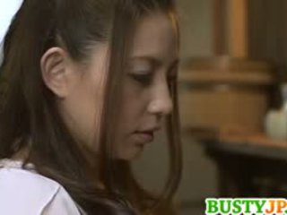 Mako oda hot is screwed with dildo