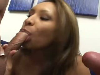 Spicy Whore Nataly Rosa Packs Mouth With Monster Cock Previous To Getting Pussy Hit