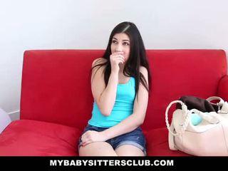 Mybabysittersclub - детегледачка fucks тя шеф към държа тя работа