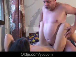 Viejo negocios hombre follando su demasiado cachonda caliente joven novia